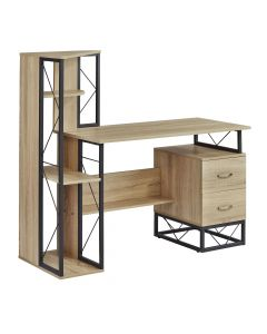 Safco SOHO Storage Desk with Shelves (Textured Natural)