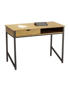 Safco Single Drawer Office Desk (Natural/Black)